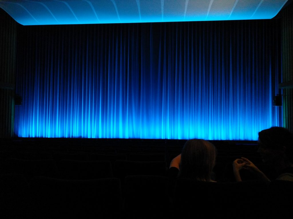 The screen at Kino International. (photo: @patrickvons / Celluloid Junkie)