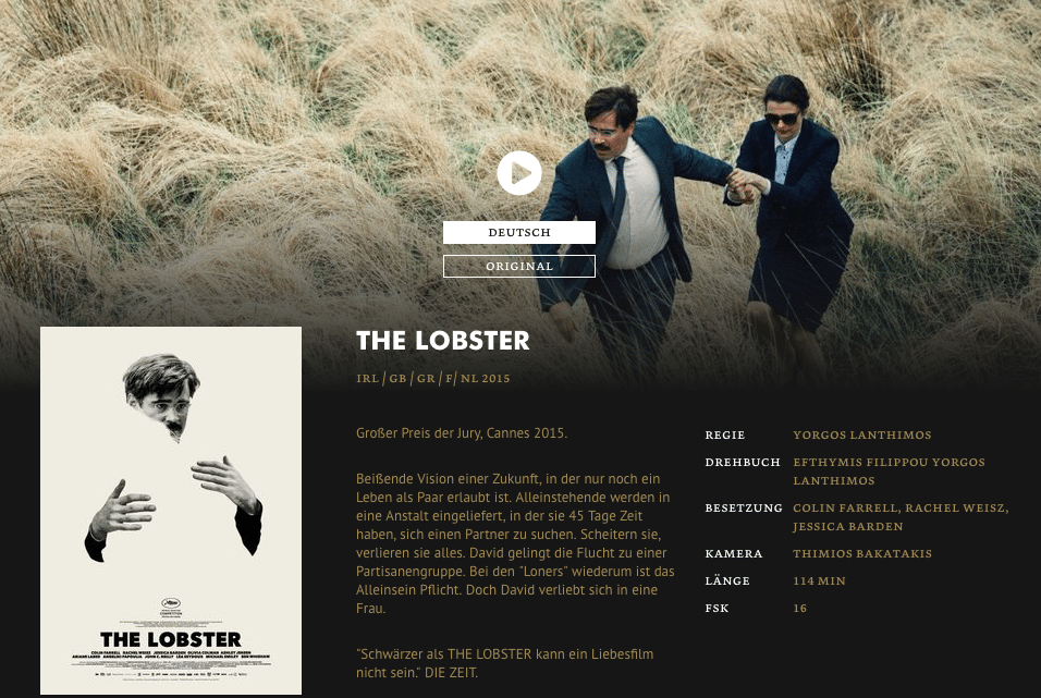 The Lobster Yorck