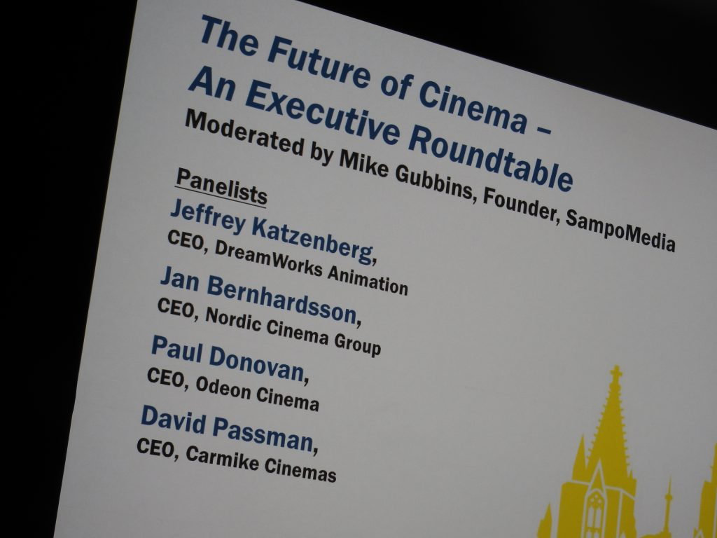 """The Future of Cinema - An (all-Male) Executive Roundtable"""