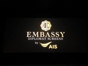 The show must go on at Embassy Diplomat Screens in Bangkok, Thailand.