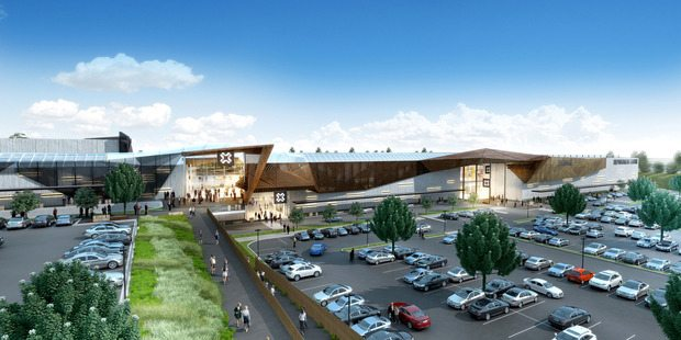 Tauranga Crossing will get a five-screen multiplex. (image: artist's impression)