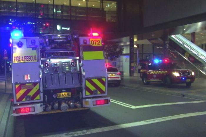 Firefighters respond to fire at Parramatta Event Cinemas.