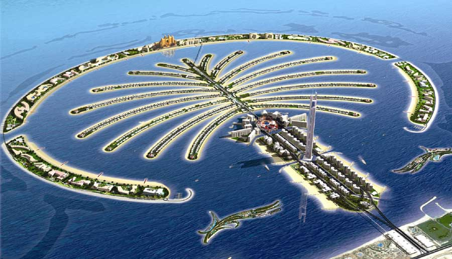 the Palm Jumeirah.