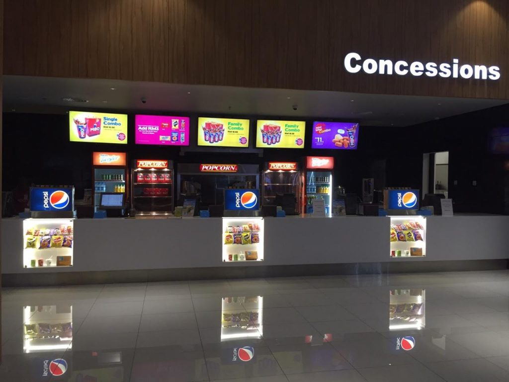 MBO Cinemas concessions stand.