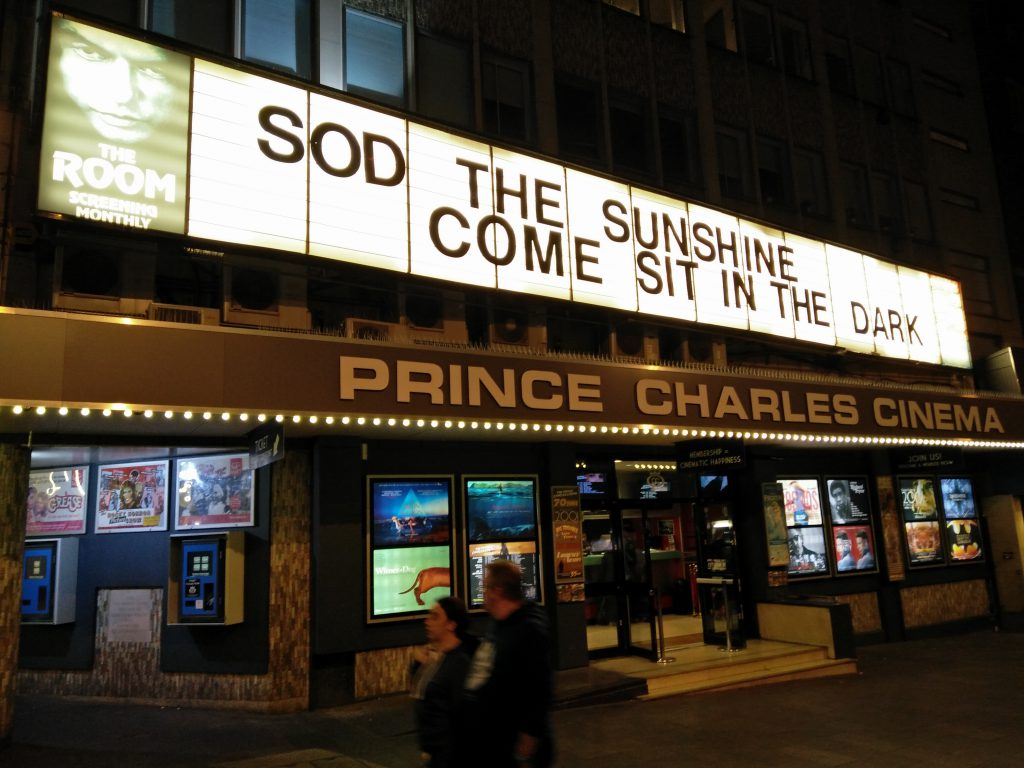 The Prince Charles Cinema - No. 9 on the list of Top London Independent Cinemas. (photo: Patrick von Sychowski / Celluloid Junkie)