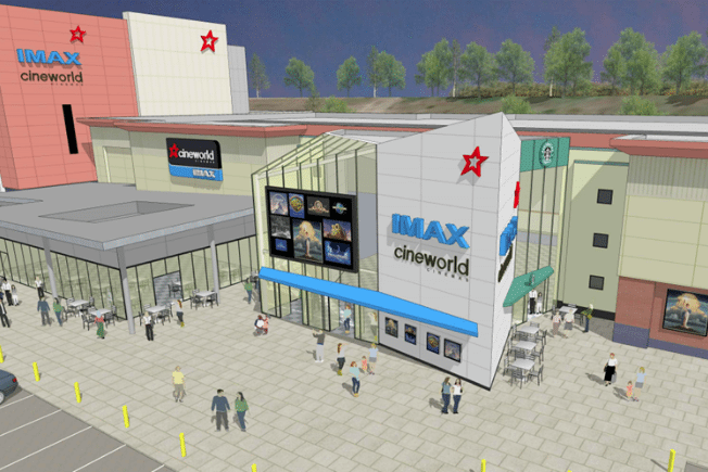 Cineworld Ashford's new planned Imax screen. (image: artist's impression)