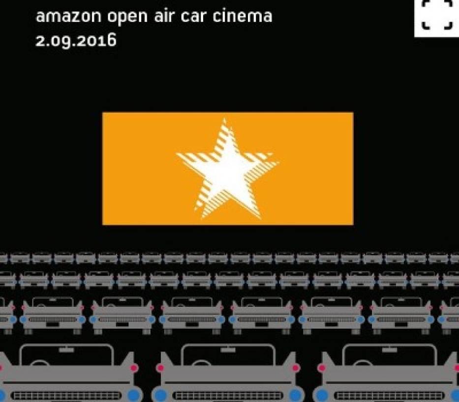 Amazon open air cinema Poland.