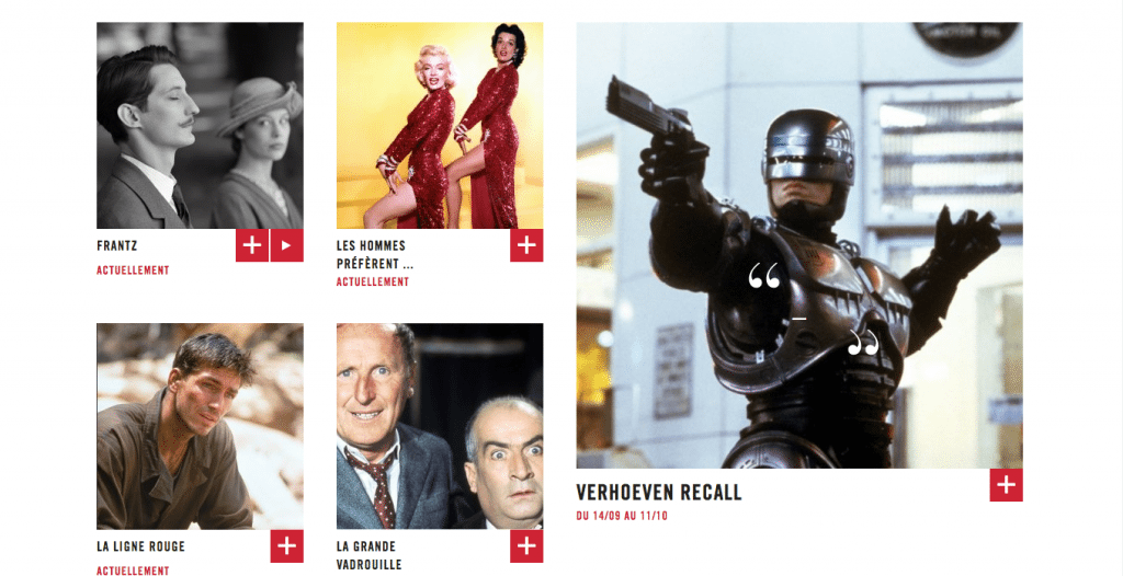 Varied programming at Cinema Les Fauvettes, Paris XIII. (screenshot from website)
