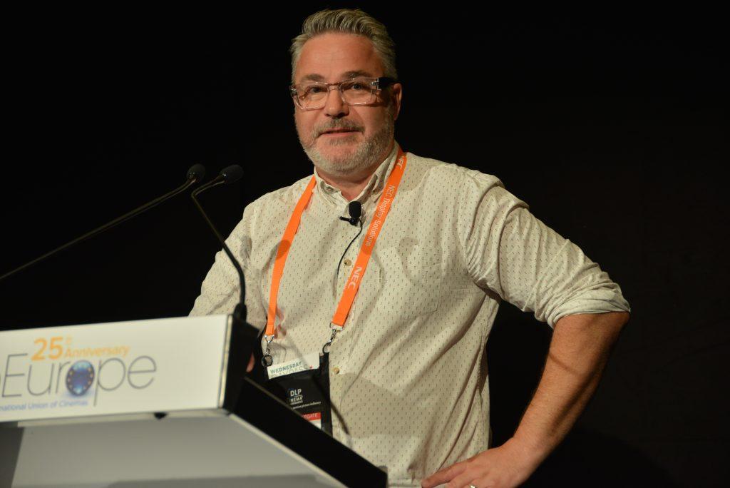 Matthew Wilson, speaking at Cine Europe 2016