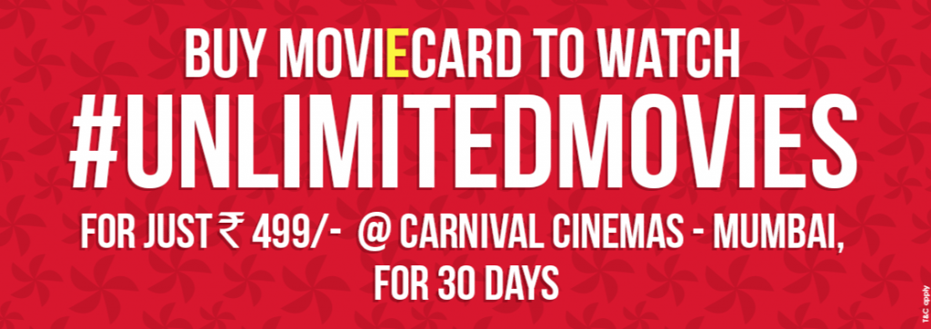 Carnival Cinema Unlimited MoviEcard.