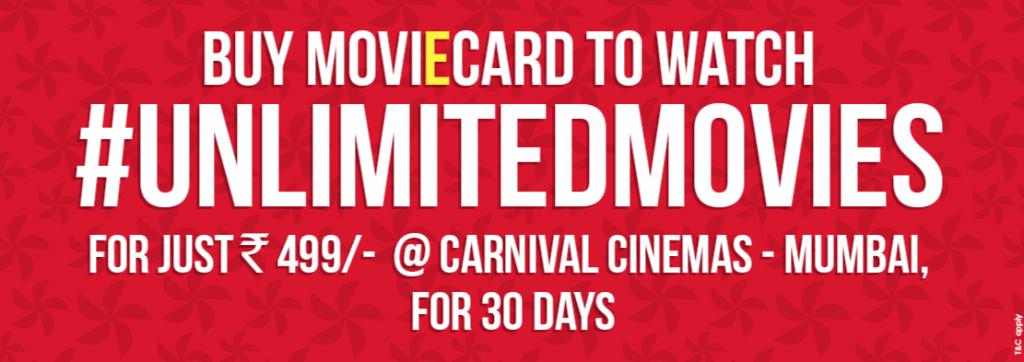 Carnival Cinema Unlimited MoviEcard.