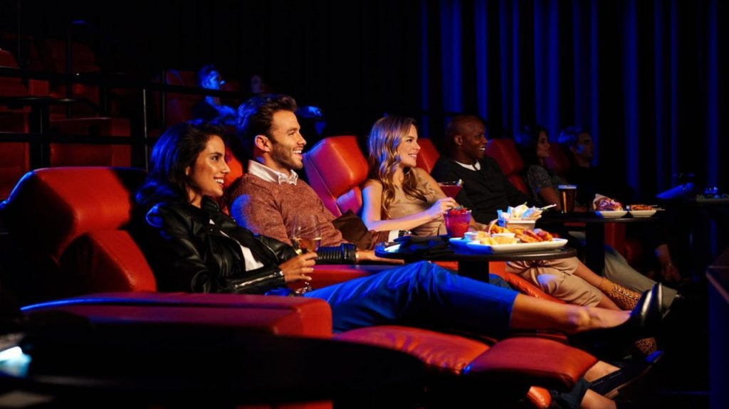 The South Street Seaport iPic Theater offers recliners and high-end dinning. (Credit: iPic Theaters)