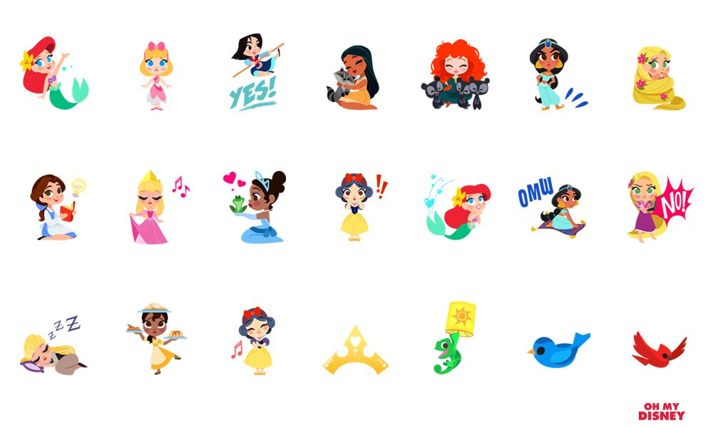 Disney Stickers Princess Pack