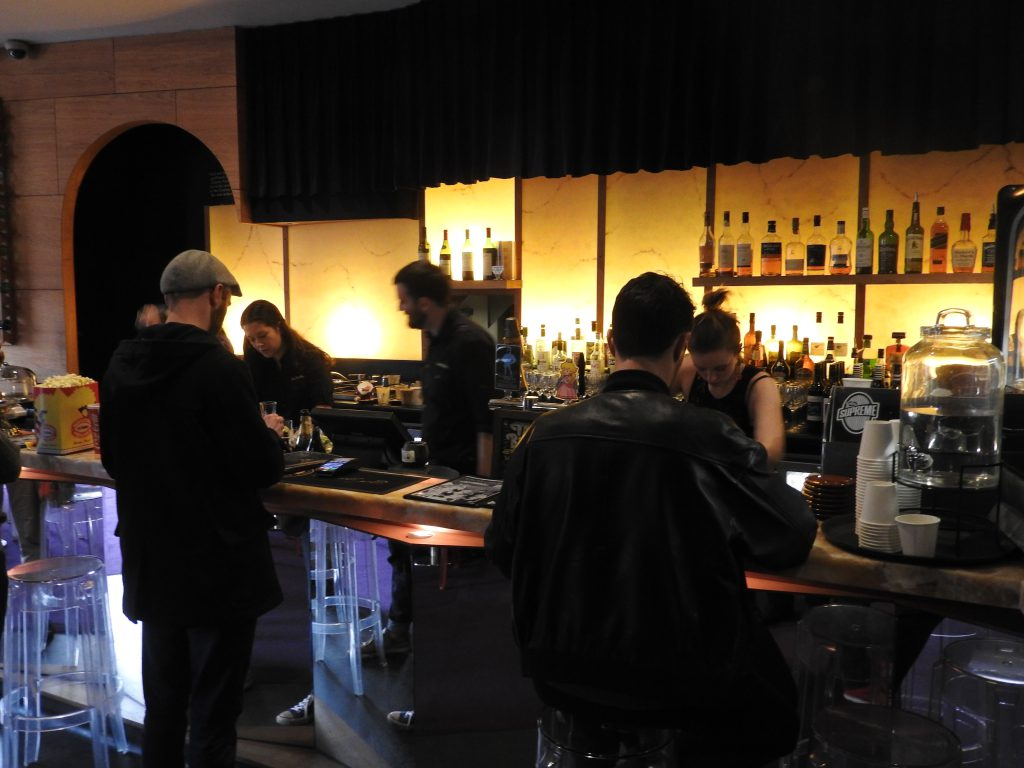 The bar at Cinema Nova, Melbourne.