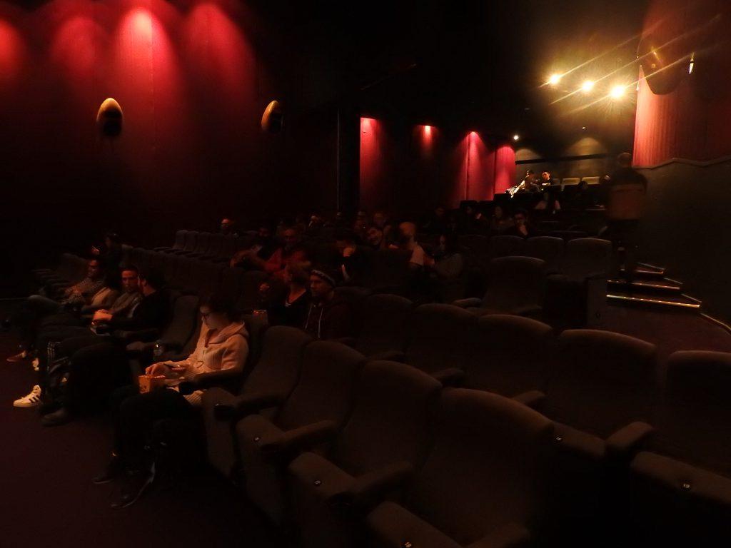 Triangular auditorium in Cinema Nova, Melbourne.