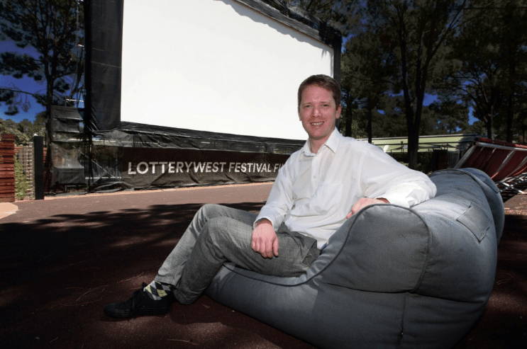 Lotterywest Festival Films program manager Tom Vincent at Joondalup Pines. (photoe: Bruce Hunt)