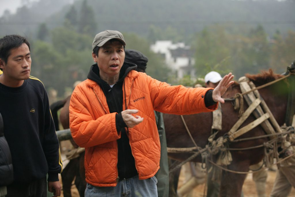 "Feng Xiaogang on the set of his film ""War Heroes"". (photo: Challenges)"