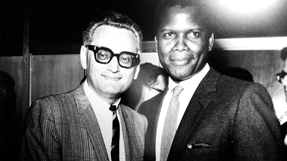 Charles Aidikoff with Sidney Poitier