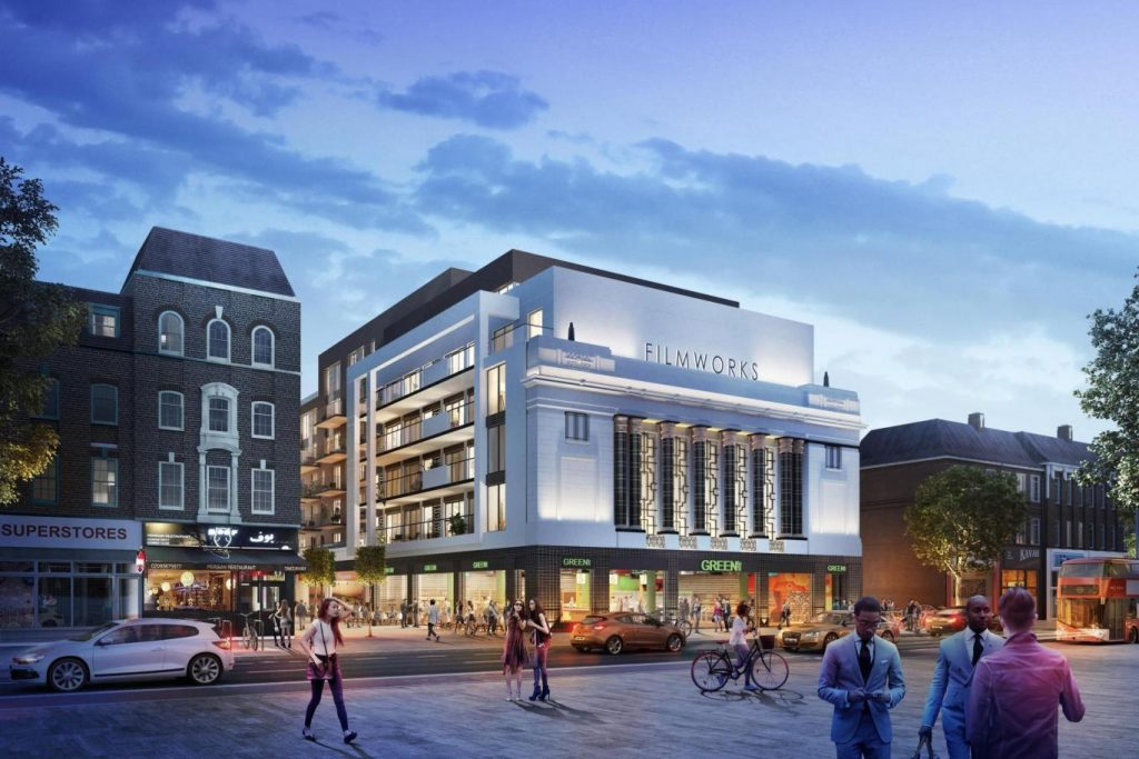 The Picturehouse Ealing cinema, with the old Art Deco facade. (image: artist's impression)