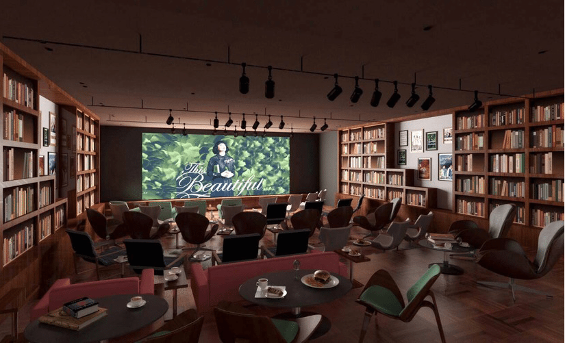 Cocomaru Theatre & Cafe in Kichijoji, Japan. (image: artist's impression)