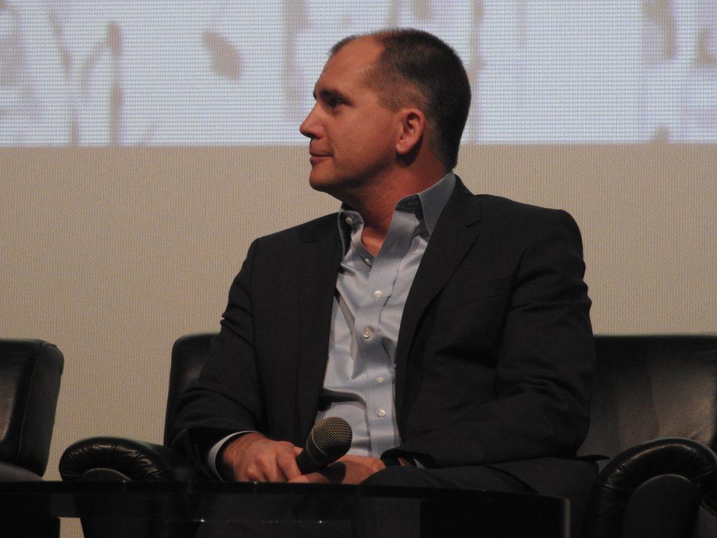 Mark Viane, Paramount Pictures Int'l, speaking at CineAsia 2016 panel. (photo: Patrick von Sychowski / Celluloid Junkie)
