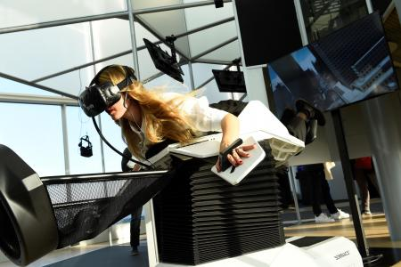 But how will it cope with French comedies? MK2's VR Space. (photo: AFP Photo / Bertrand Guay)