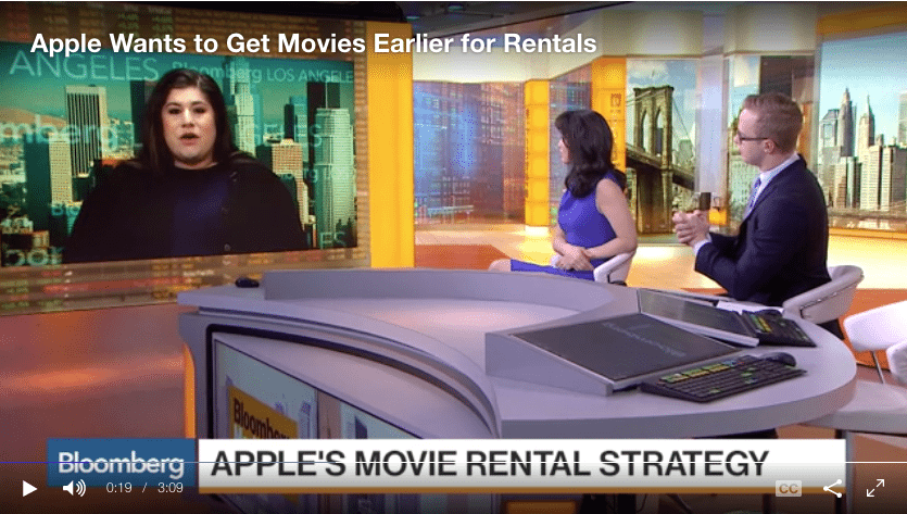 Apple movie rentals Hollywood