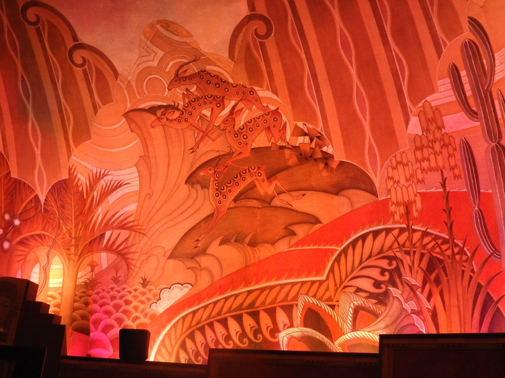 Part of the mural of the Avalon Theatre, Catalina Island. (photo: Patrick von Sychowski / Celluloid Junkie)