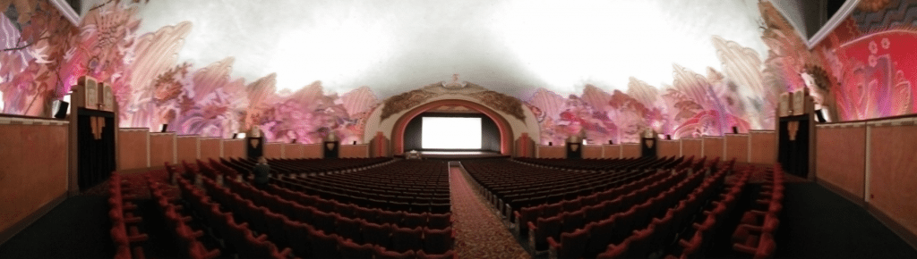 Panoramic shot of 1,184-seater Avalon Theatre, Catalina. (photo: Patrick von Sychowski / Celluloid Junkie)