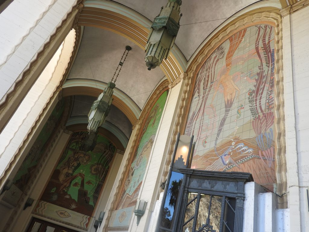 The Mermaid guarding the Avalon Theatre BO. (photo: Patrick von Sychowski / Celluloid Junkie)