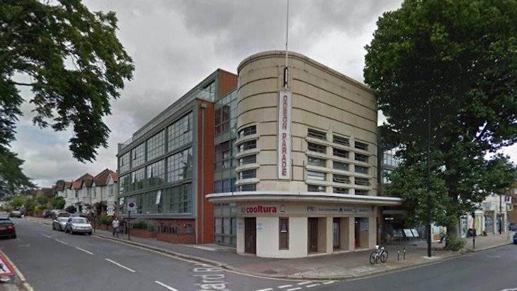 The old Odeon Isleworth - now studios. (photo: Google Earth)
