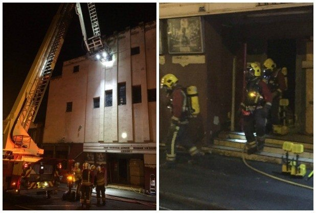 Fire in Galaxy cinema Eaton. (photos: Nottingham Post)
