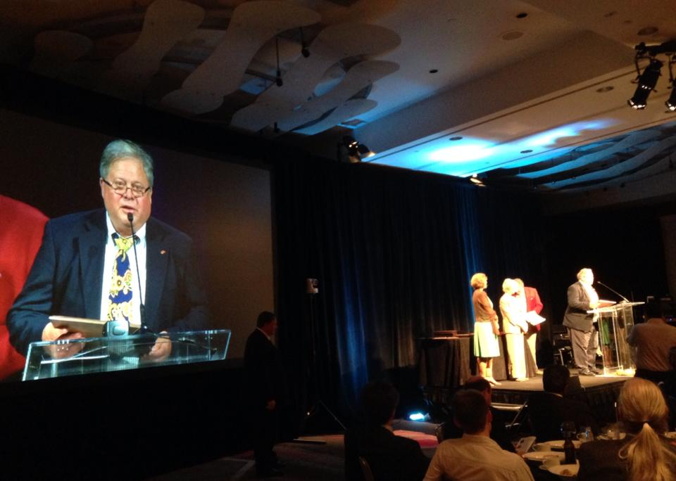 Jim Whittlesey being awarded SMPTE Fellow award for lifetime achievement in 2013. (photo: Facebook)