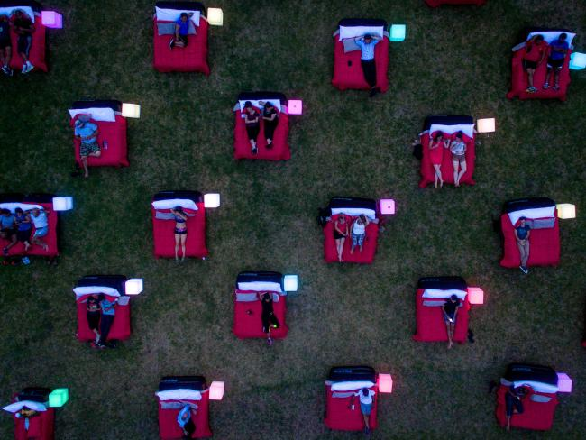 Australia's Mov'In Bed cinema in Parramatta Park. (photo: Franck Gazzola)