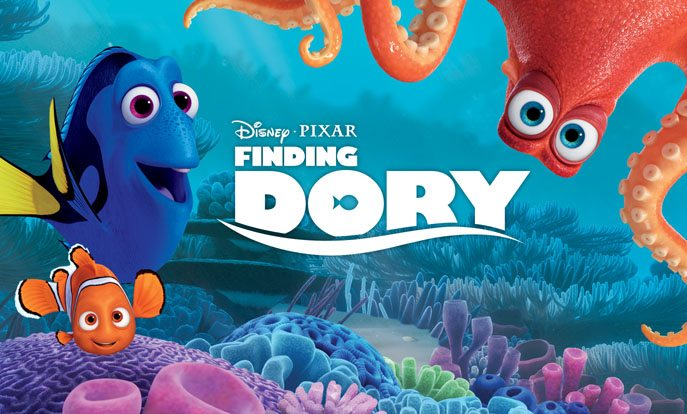 """Finding Dory"" was 2016's biggest hit with USD $483 million. (image: Pixar)"