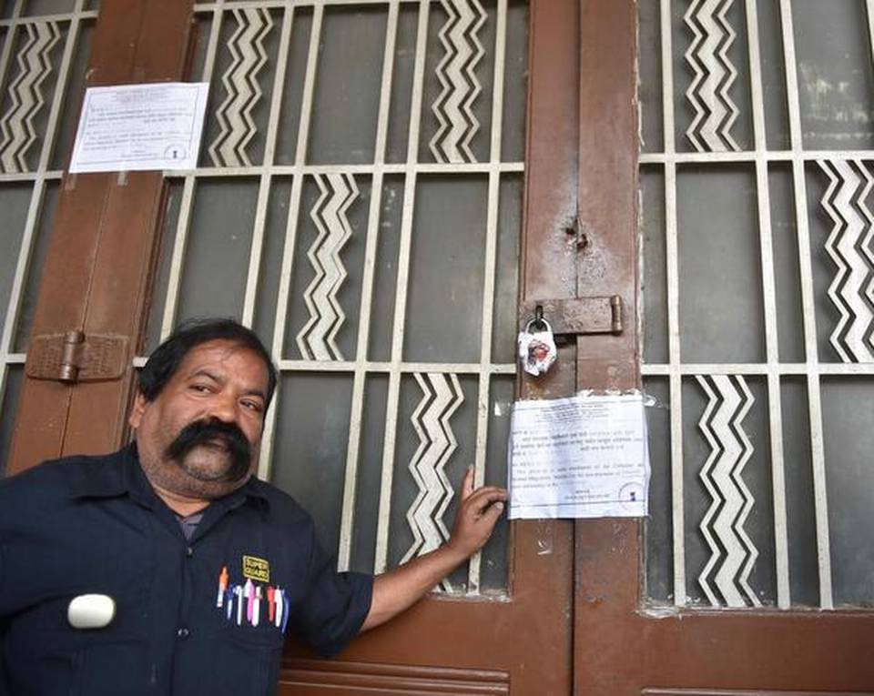Eros Cinema - closed until further notice. (photo: The Hindu)