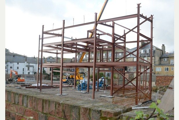 Here be films soon. Dover multiplex construction. (photo: KentLive)