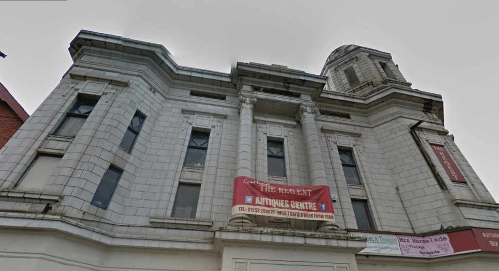 Blackpool's Regent Cinema - rescued from being an antique centre. (image: Google Street View)
