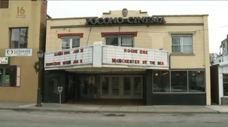 Pocono cinema gets makeover. (image: WNEP16 screen grab)