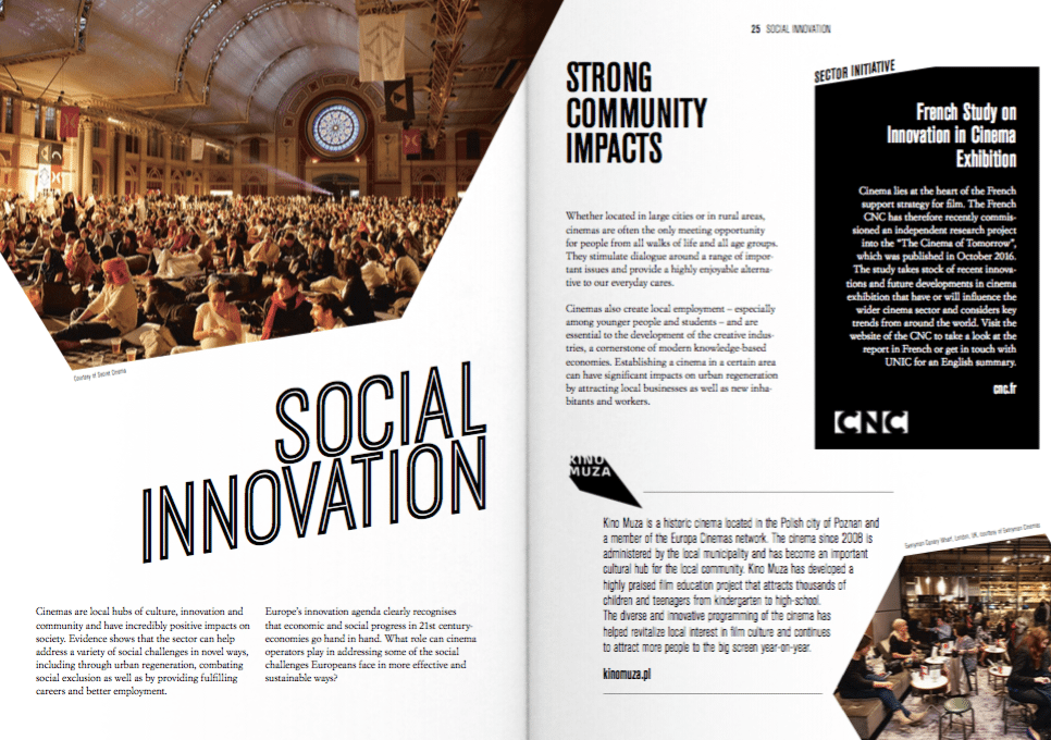 "Social Innovation - sample from the UNIC 'Innovation and the Big Screen"" report."
