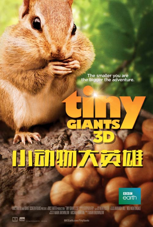 "BBC ""Tiny Giants 3D"" in Imax in China. (poster: BBC Earth)"