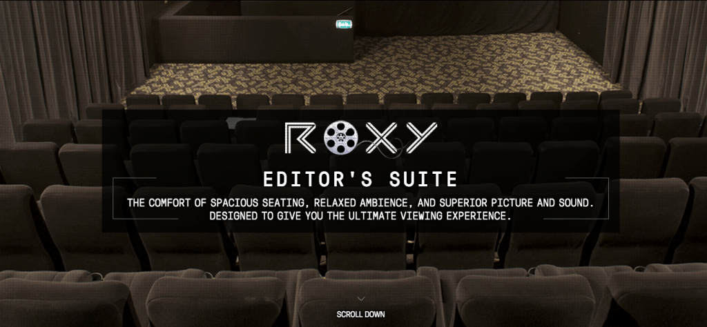 Roxy Editor's Suite. (image: theroxycinemas.com website)