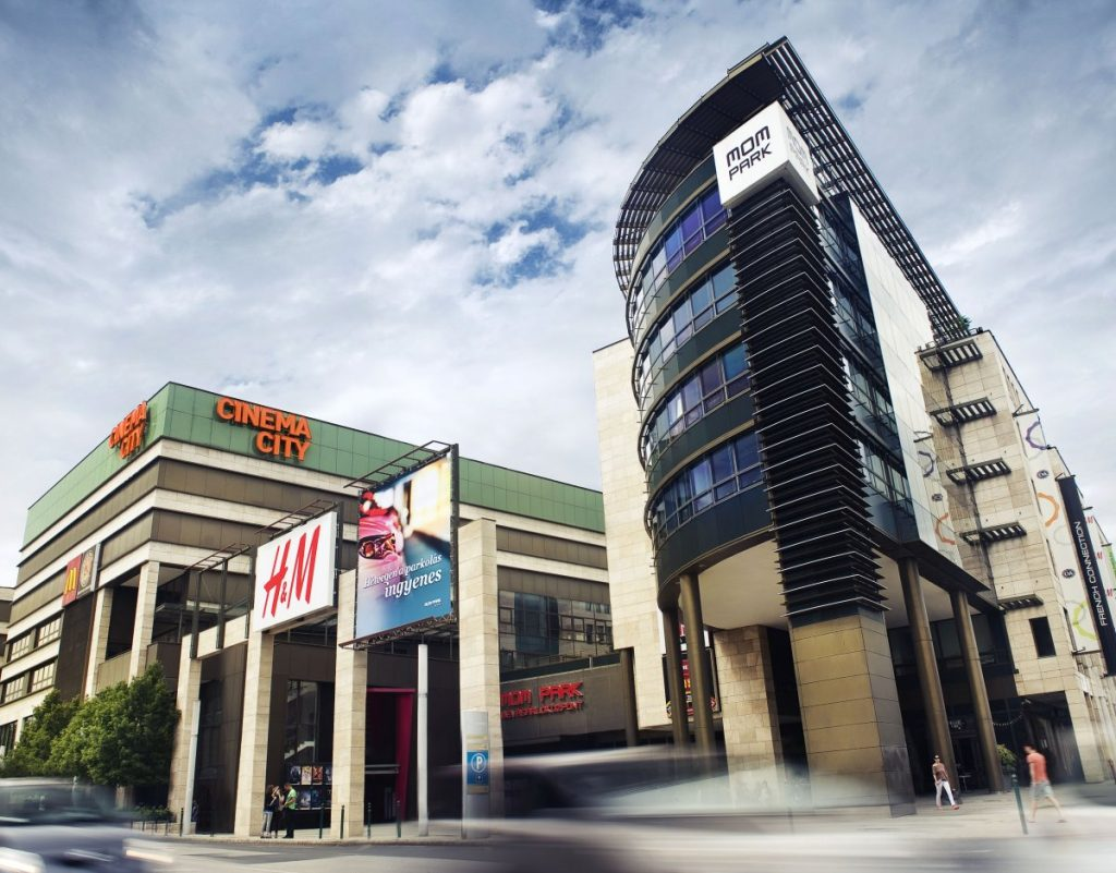 Heading for the exit? Cinema City in Budapest MOM Park mall. (photo: BBJ)