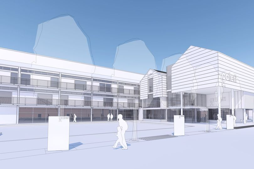 Two screen for Galeri Caernarfon. (image: artist's impression)