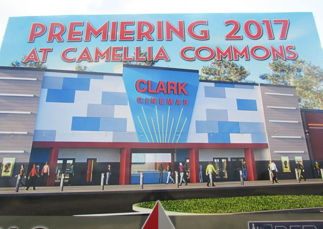 Clark Cinema 10 - coming soon. (photo of rendering: Josh Boutwell / The Ledger)