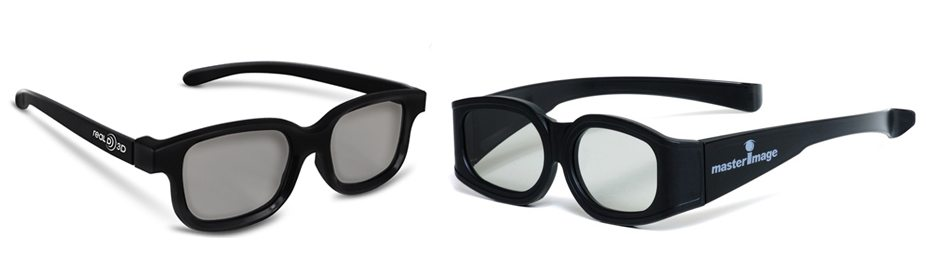 RealD and MasterImage 3D Glasses
