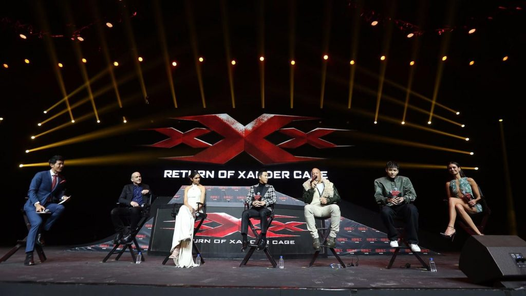 """xXx 2"" promotional event in Beijing. (photo: LA Times)"