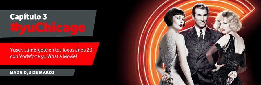 """""""Chicago"""" comes to Madrid courtesy of Vodaphone."""