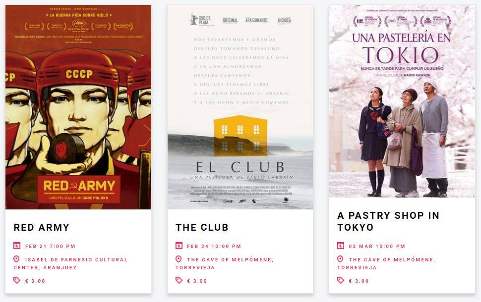 Film2 films on offer. (image: Film2 website)
