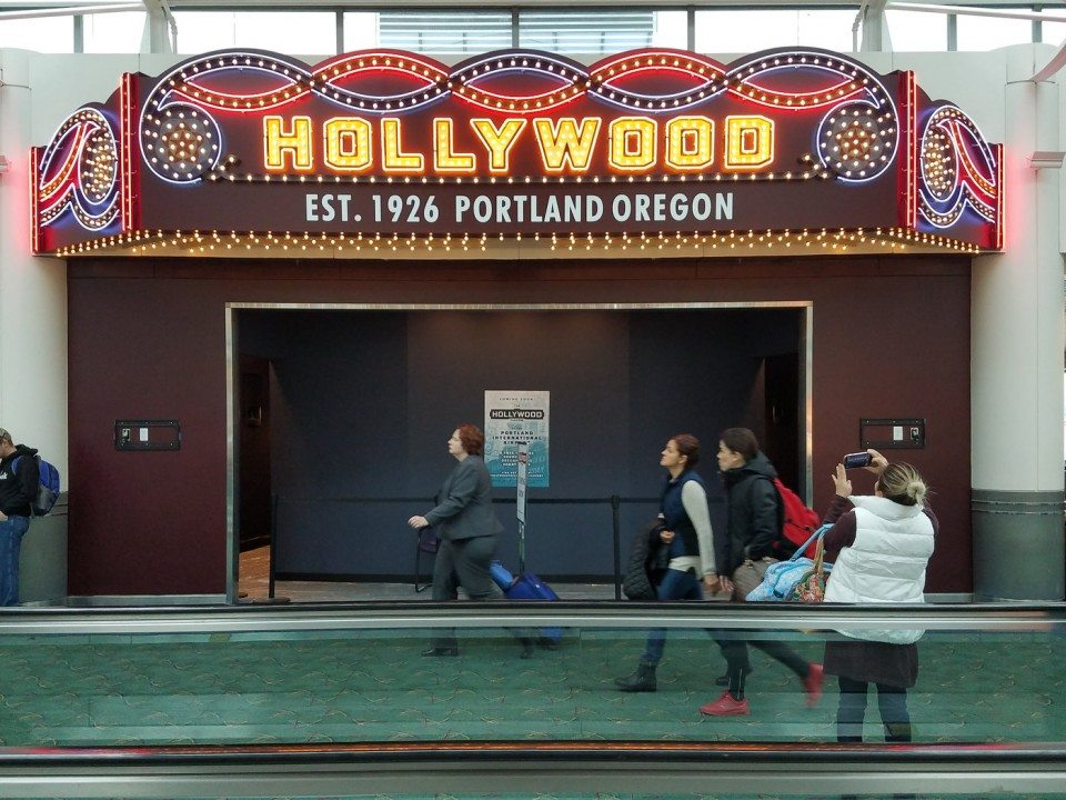 Portland Airport Cinema. (photo: The Oregonian)